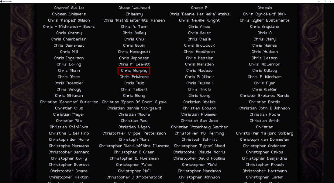Timespinner - Name in Credits